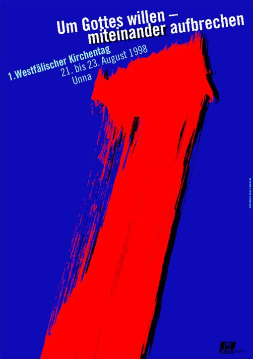 Kirchentagplakat, Evangelische Kirche, Entwurf: Prof. Dieter Ziegenfeuter