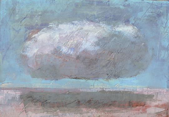Frieden, Ruhe, Ewigkeit, cloud, landscape, acrylic painting