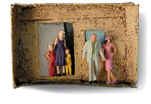 Familie verlassen, Kinder, Opfer, Alter Mann mit junger Frau