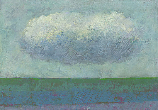 Dieter Ziegenfeuter, Frieden, Peace,  landscape with cloud Wolke