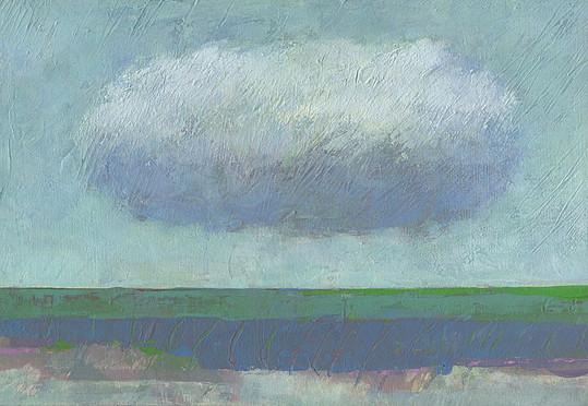 Dieter Ziegenfeuter, Frieden, Peace, landscape with cloud landschaft wolke
