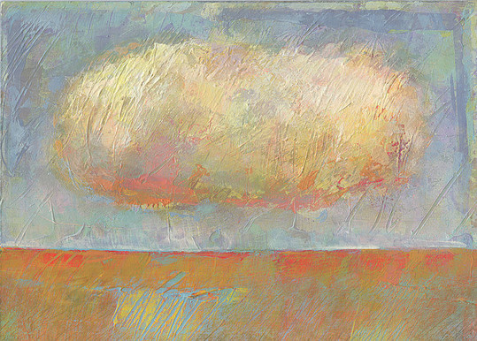 Dieter Ziegenfeuter, landscape with cloud, landschaft, wolke, Malerei