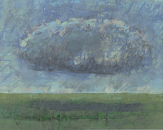 Dieter Ziegenfeuter, Landscape with cloud, Wolke, Landschaft