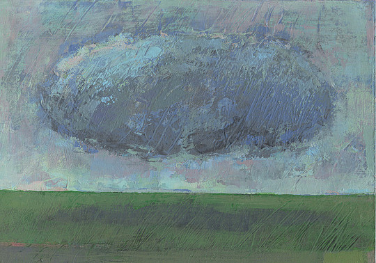 Dieter Ziegenfeuter, Landscape with cloud, Landschaft, Wolke