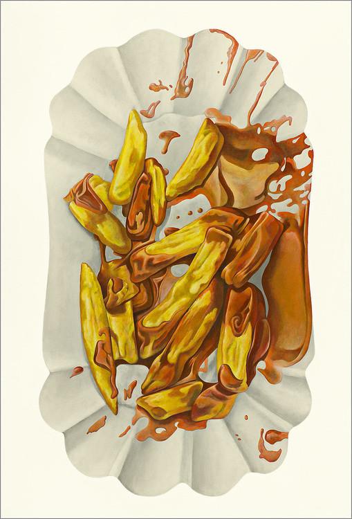 Pommes, Dieter Ziegenfeuter, pommes Ketchup, Acrylgemälde