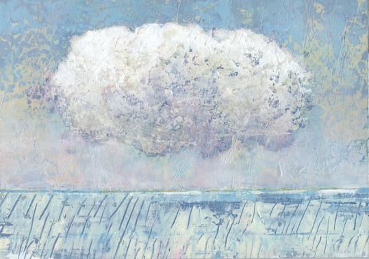 Dieter Ziegenfeuter, Eiszeit, Landschaft, Malerei, Wolke, Kälte