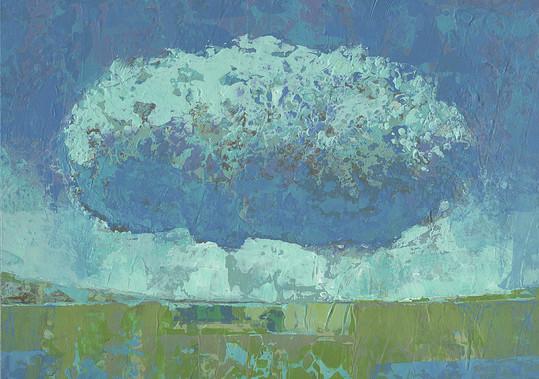 Dieter Ziegenfeuter, stürmische Landschaft, Malerei,