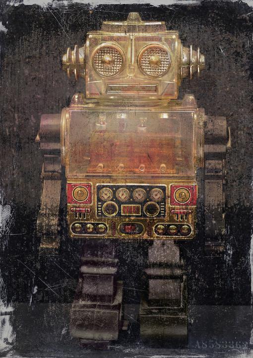 Roboter, Blechroboter, Dieter Ziegenfeuter, Illustration