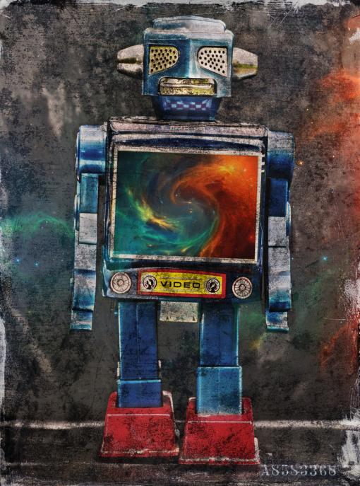 Roboter, Blechspielzeug, Blechroboter, Dieter Ziegenfeuter, Dortmund, Illustration, Grafik-Design