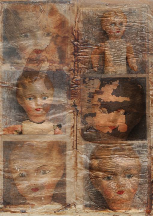 Puppe, Negativ, Dias, Spielzeug, Vintage, Dieter Ziegenfeuter, Illustration, Grafik-Design, Dortmund