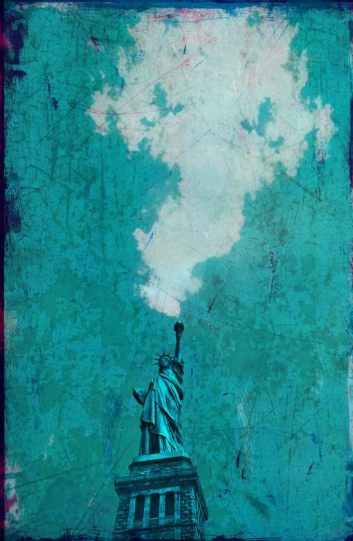 Dieter Ziegenfeuter, Dortmund, Illustration, Freiheitsstatue, New York,