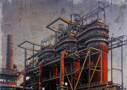 Dieter Ziegenfeuter, Dortmund Hörde, Ruhrgebiet, Stahlwerk, Industrieruine,