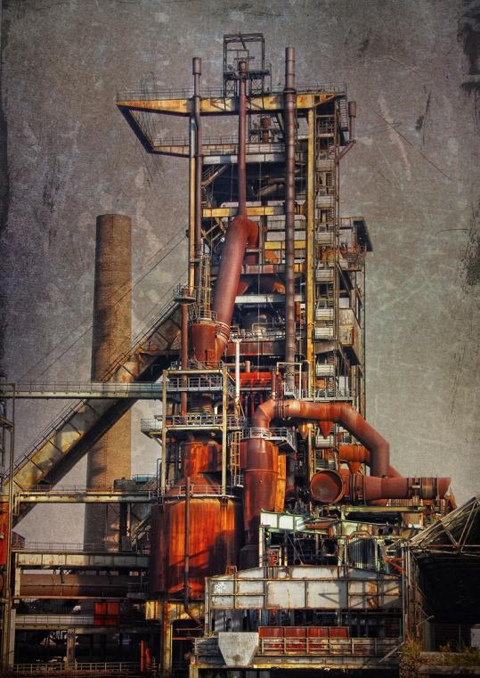Dortmund, Fotografie, Industrieruine, Stahlwerk, Hochofen, Dortmund Hörde