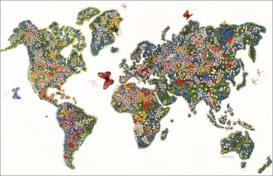 Weltkarte, Reisen, Terramar 1980,