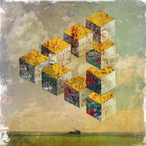 Penrose Dreieck, optische Täuschung, Landschaft, Illustration Dieter Ziegenfeuter, Dortmund