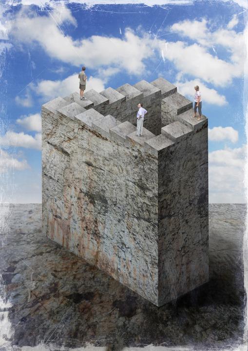 Penrose, die unmögliche Treppe, Illustration Dieter Ziegenfeuter, Dortmund